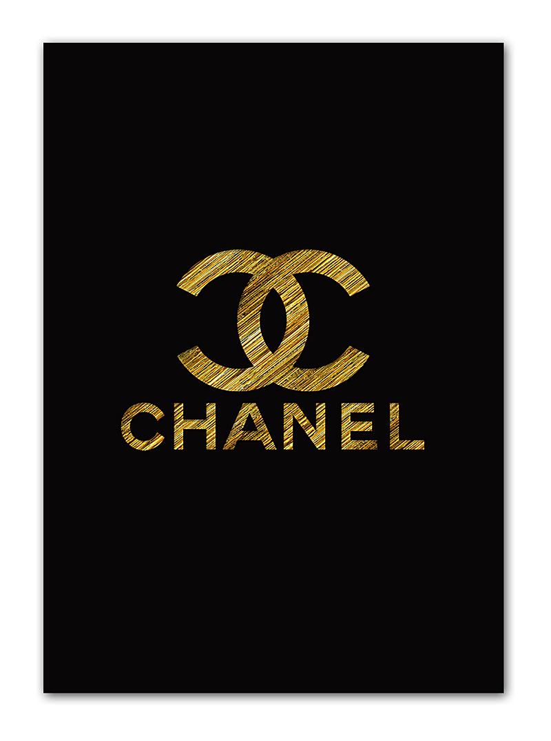 Постер Chanel gold А3 DG-HOME от Дивайн Лайт
