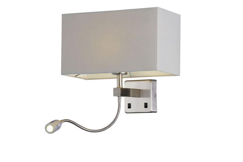 Бра JEWEL AP2 GR Crystal LuxНастенные и бра<br>JEWEL AP2 GR. Бренд - Crystal Lux. материал плафона - ткань. цвет плафона - серый. тип цоколя - E27. тип лампы - накаливания или LED. ширина/диаметр - 200. мощность - 60. количество ламп - 2.<br><br>популярные производители: Crystal Lux<br>материал плафона: ткань<br>цвет плафона: серый<br>тип цоколя: E27<br>тип лампы: накаливания или LED<br>ширина/диаметр: 200<br>максимальная мощность лампочки: 60<br>количество лампочек: 2