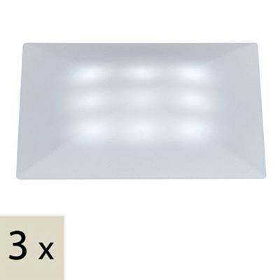 Точечный светильник 98862встраиваемые<br>Cв-к встр. Profi Quadro LED 3x1W сатин/пластик. Бренд - Paulmann. тип лампы - LED. количество ламп - 3. мощность лампы - 1. цвет арматуры - белый. цвет плафона - белый. материал арматуры - металл. материал плафона - пластик. высота - 50. ширина/диаметр - 50. степень защиты ip - 67. форма - квадрат. стиль - хай-тек. страна происхождения - Германия. монтажное отверстие - 45. цвет свечения - белый (холодный). коллекция - UpDownlight. напряжение - 12.<br><br>Бренд: Paulmann<br>тип лампы: LED<br>количество ламп: 3<br>мощность лампы: 1<br>цвет арматуры: белый<br>цвет плафона: белый<br>материал арматуры: металл<br>материал плафона: пластик<br>высота: 50<br>ширина/диаметр: 50<br>степень защиты ip: 67<br>форма: квадрат<br>стиль: хай-тек<br>страна происхождения: Германия<br>монтажное отверстие: 45<br>цвет свечения: белый (холодный)<br>коллекция: UpDownlight<br>напряжение: 12
