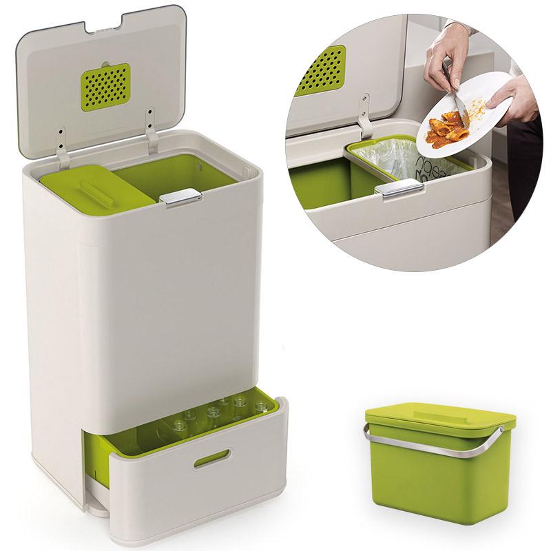 Контейнер для сортировки мусора totem 50 л белый Fine DesignХранение и порядок<br>. Бренд - Fine Design. материал - нержавеющая сталь, пластик.<br><br>популярные производители: Fine Design<br>материал: нержавеющая сталь, пластик