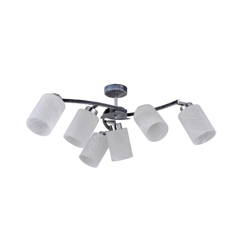 Потолочная люстра на штанге 850/6PF-Blueglow IDLampна штанге<br>Потолочный. Бренд - IDLamp. материал плафона - стекло. цвет плафона - белый. тип цоколя - E27. тип лампы - накаливания или LED. ширина/диаметр - 660. мощность - 40. количество ламп - 6.<br><br>популярные производители: IDLamp<br>материал плафона: стекло<br>цвет плафона: белый<br>тип цоколя: E27<br>тип лампы: накаливания или LED<br>ширина/диаметр: 660<br>максимальная мощность лампочки: 40<br>количество лампочек: 6