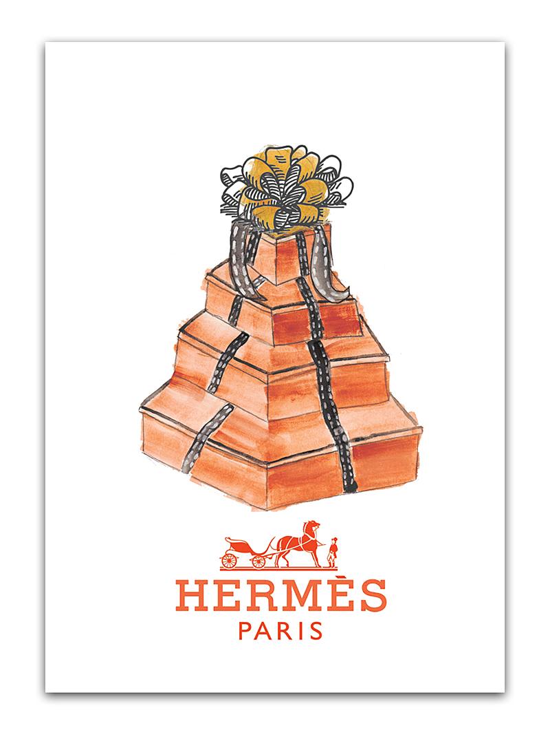 Постер Hermes А4 DG-HOME от Дивайн Лайт