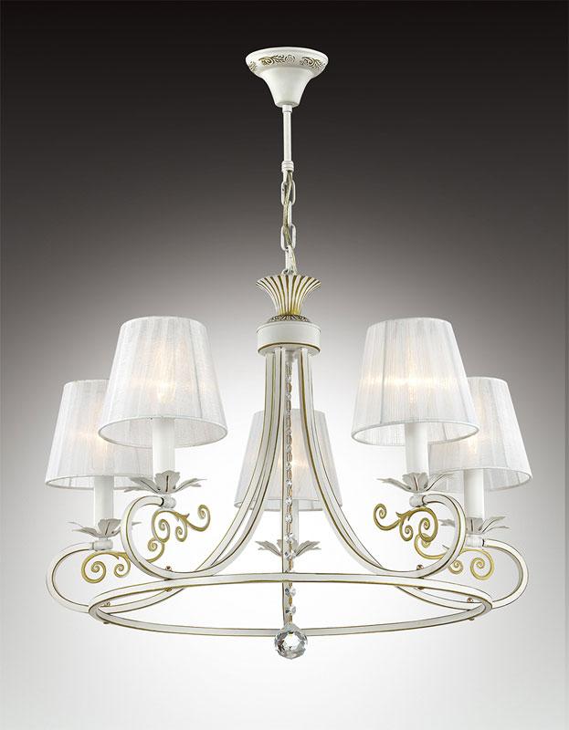 Потолочная люстра подвесная 2924/5подвесные<br>2924/5 ODL16 055 бежевый/зол.патина /абажур ткань/подвеска хрусталь Люстра  E14 5*40W 220V ANDRIA. Бренд - Odeon Light. тип лампы - накаливания или LED. количество ламп - 5. тип цоколя - E14. мощность лампы - 40. цвет арматуры - белый. цвет плафона - белый. материал арматуры - металл. материал плафона - ткань. высота - 300. ширина/диаметр - 690. длина - 690. степень защиты ip - 20. форма - круг. стиль - классический. страна происхождения - Италия. коллекция - ANDRIA. напряжение - 220.<br><br>Бренд: Odeon Light<br>тип лампы: накаливания или LED<br>количество ламп: 5<br>тип цоколя: E14<br>мощность лампы: 40<br>цвет арматуры: белый<br>цвет плафона: белый<br>материал арматуры: металл<br>материал плафона: ткань<br>высота: 300<br>ширина/диаметр: 690<br>длина: 690<br>степень защиты ip: 20<br>форма: круг<br>стиль: классический<br>страна происхождения: Италия<br>коллекция: ANDRIA<br>напряжение: 220