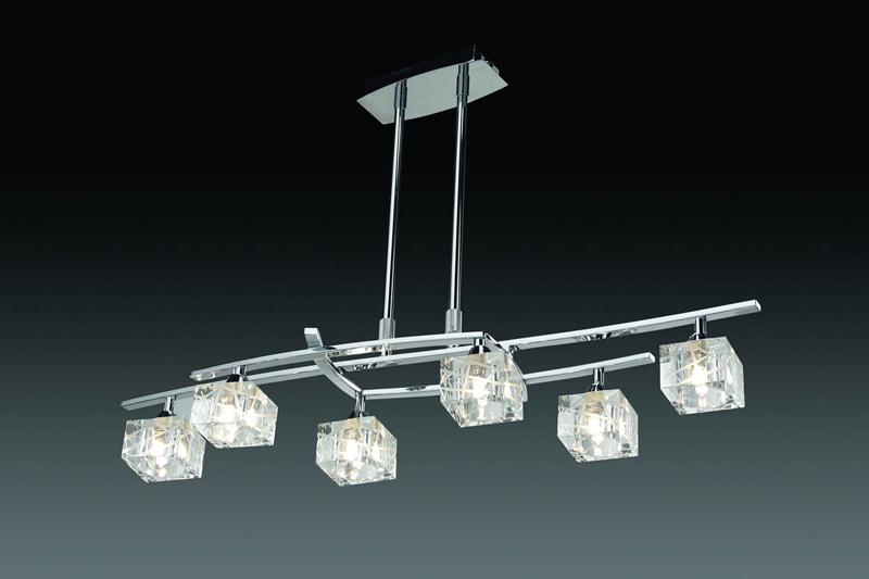 Потолочная люстра на штанге 1423 Mantraна штанге<br>CHROME. Бренд - Mantra. материал плафона - стекло. цвет плафона - прозрачный. тип цоколя - G9. тип лампы - галогеновая или LED. ширина/диаметр - 230. мощность - 40. количество ламп - 6.<br><br>популярные производители: Mantra<br>материал плафона: стекло<br>цвет плафона: прозрачный<br>тип цоколя: G9<br>тип лампы: галогеновая или LED<br>ширина/диаметр: 230<br>максимальная мощность лампочки: 40<br>количество лампочек: 6