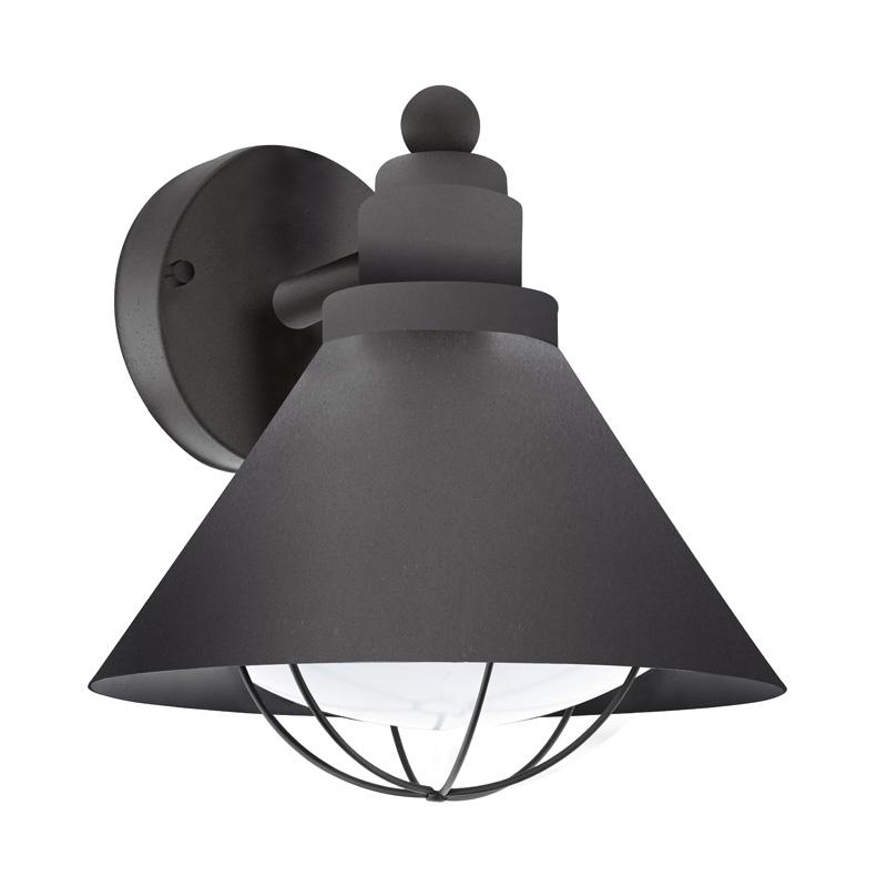 Светильник настенный 94805 EGLOНастенные<br>Уличный светильник настенный BARROSELA, 1х40W (E27), H240, гальван. сталь, черный/пластик, белый. Бренд - EGLO. материал плафона - пластик. цвет плафона - белый. тип цоколя - E27. тип лампы - накаливания или LED. ширина/диаметр - 220. мощность - 40. количество ламп - 1.<br><br>популярные производители: EGLO<br>материал плафона: пластик<br>цвет плафона: белый<br>тип цоколя: E27<br>тип лампы: накаливания или LED<br>ширина/диаметр: 220<br>максимальная мощность лампочки: 40<br>количество лампочек: 1