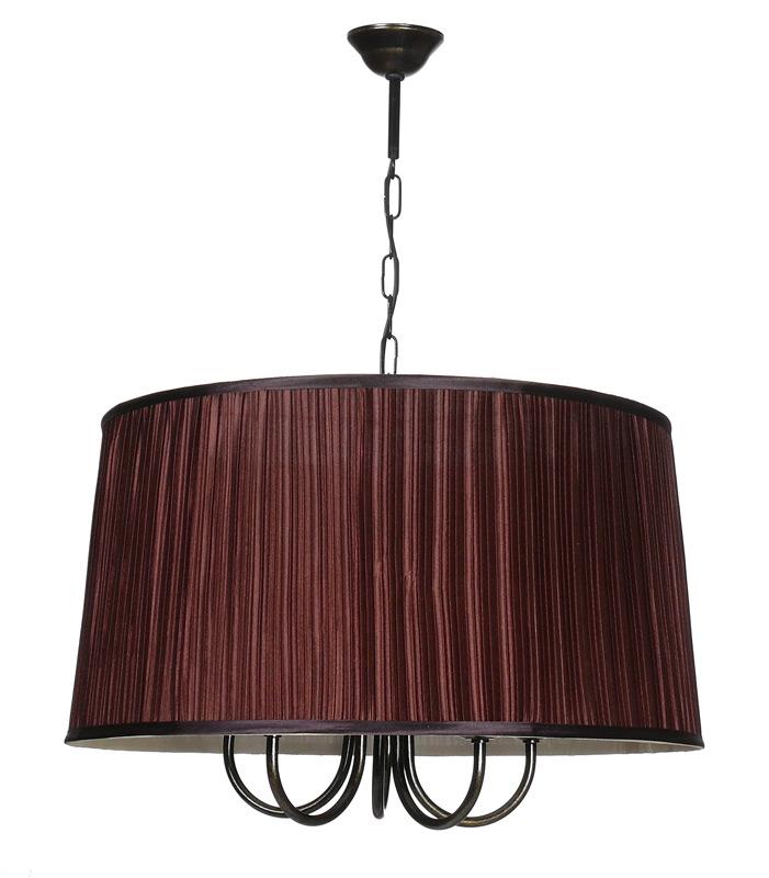 Потолочная люстра подвесная 10090-5Lподвесные<br>люстра. Бренд - Аврора. тип лампы - накаливания или LED. количество ламп - 5. тип цоколя - E14. мощность лампы - 60. цвет арматуры - коричневый. цвет плафона - коричневый. материал арматуры - металл. материал плафона - ткань. высота - 1540. ширина/диаметр - 550. длина - 550. степень защиты ip - 20. форма - круг. стиль - модерн. страна происхождения - Россия. коллекция - ЗАКАТ. напряжение - 220.<br><br>Бренд: Аврора<br>тип лампы: накаливания или LED<br>количество ламп: 5<br>тип цоколя: E14<br>мощность лампы: 60<br>цвет арматуры: коричневый<br>цвет плафона: коричневый<br>материал арматуры: металл<br>материал плафона: ткань<br>высота: 1540<br>ширина/диаметр: 550<br>длина: 550<br>степень защиты ip: 20<br>форма: круг<br>стиль: модерн<br>страна происхождения: Россия<br>коллекция: ЗАКАТ<br>напряжение: 220