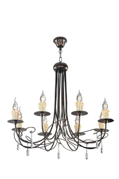Потолочная люстра подвесная S110171/8 Donoluxподвесные<br>Donolux Classic люстра, подвески стекло, диам 72 см, выс 48 см, 8хE14 40W, арматура темно-медного цв. Бренд - Donolux. тип цоколя - E14. тип лампы - накаливания или LED. ширина/диаметр - 720. мощность - 40. количество ламп - 8.<br><br>популярные производители: Donolux<br>тип цоколя: E14<br>тип лампы: накаливания или LED<br>ширина/диаметр: 720<br>максимальная мощность лампочки: 40<br>количество лампочек: 8