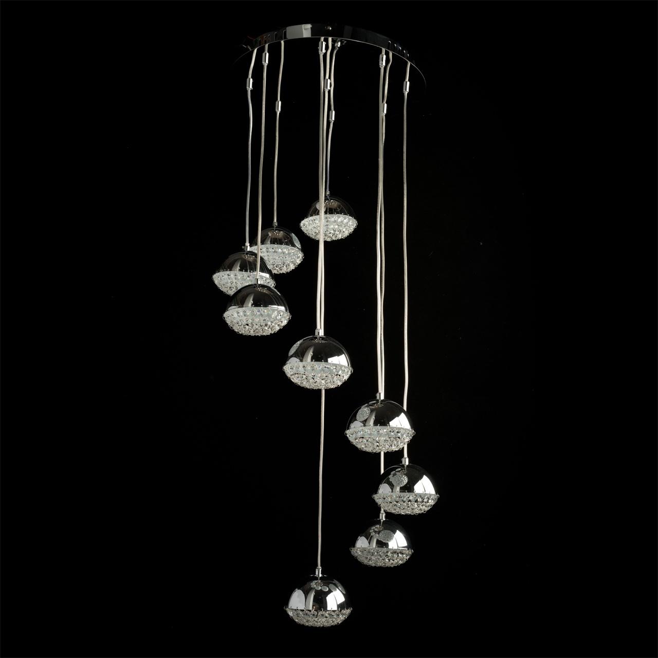 Подвесной  потолочный светильник 461010909 MW-Lightподвесные<br>461010909. Бренд - MW-Light. материал плафона - хрусталь. цвет плафона - прозрачный. тип лампы - LED. ширина/диаметр - 400. мощность - 5. количество ламп - 9.<br><br>популярные производители: MW-Light<br>материал плафона: хрусталь<br>цвет плафона: прозрачный<br>тип лампы: LED<br>ширина/диаметр: 400<br>максимальная мощность лампочки: 5<br>количество лампочек: 9