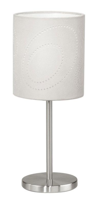 Настольная лампа 89216 EGLOНастольные лампы<br>Настольная лампа INDO, 1X60W (E27), H390, никель/микрофибра, кристаллическая пленка, бежевый. Бренд - EGLO. материал плафона - ткань. цвет плафона - белый. тип цоколя - E27. тип лампы - накаливания или LED. ширина/диаметр - 120. мощность - 60. количество ламп - 1.<br><br>популярные производители: EGLO<br>материал плафона: ткань<br>цвет плафона: белый<br>тип цоколя: E27<br>тип лампы: накаливания или LED<br>ширина/диаметр: 120<br>максимальная мощность лампочки: 60<br>количество лампочек: 1