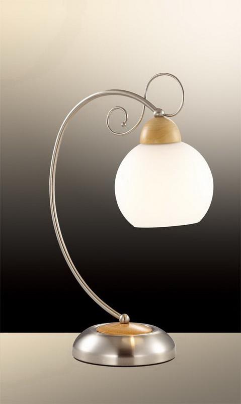 Настольная лампа 2658/1T Odeon LightНастольные лампы<br>2658/1T ODL14 373 никель/дерево/белый Н/лампа  E27 60W 220V Narbo. Бренд - Odeon Light. материал плафона - стекло. цвет плафона - белый. тип цоколя - E27. тип лампы - накаливания или LED. ширина/диаметр - 250. мощность - 60. количество ламп - 1.<br><br>популярные производители: Odeon Light<br>материал плафона: стекло<br>цвет плафона: белый<br>тип цоколя: E27<br>тип лампы: накаливания или LED<br>ширина/диаметр: 250<br>максимальная мощность лампочки: 60<br>количество лампочек: 1