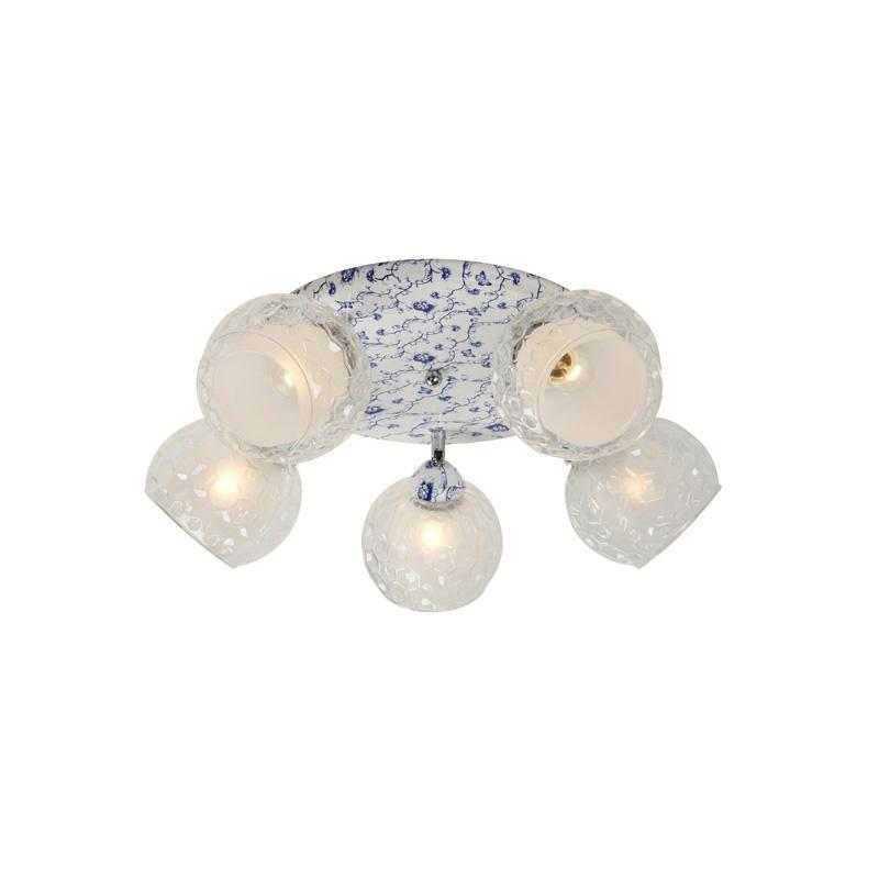 Потолочная люстра накладная 876/5PF-Whiteblue IDLampнакладные<br>Потолочный. Бренд - IDLamp. материал плафона - стекло. цвет плафона - белый. тип цоколя - E27. тип лампы - накаливания или LED. ширина/диаметр - 550. мощность - 60. количество ламп - 5.<br><br>популярные производители: IDLamp<br>материал плафона: стекло<br>цвет плафона: белый<br>тип цоколя: E27<br>тип лампы: накаливания или LED<br>ширина/диаметр: 550<br>максимальная мощность лампочки: 60<br>количество лампочек: 5