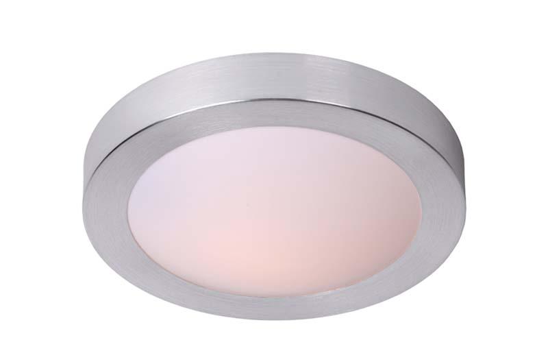 Накладной потолочный светильник 79158/02/12 LUCIDEнакладные<br>FRESH Ceiling Light IP44 2xE27 D35cm Brush Alu. Бренд - LUCIDE. материал плафона - пластик. цвет плафона - белый. тип цоколя - E27. тип лампы - накаливания или LED. ширина/диаметр - 350. мощность - 20. количество ламп - 2.<br><br>популярные производители: LUCIDE<br>материал плафона: пластик<br>цвет плафона: белый<br>тип цоколя: E27<br>тип лампы: накаливания или LED<br>ширина/диаметр: 350<br>максимальная мощность лампочки: 20<br>количество лампочек: 2