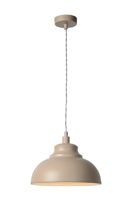 Подвесной  потолочный светильник 34400/29/41 LUCIDEподвесные<br>ISLA  Pendant E14 D29 H22cm Brown. Бренд - LUCIDE. материал плафона - металл. цвет плафона - бежевый. тип цоколя - E14. тип лампы - накаливания или LED. ширина/диаметр - 290. мощность - 40. количество ламп - 1.<br><br>популярные производители: LUCIDE<br>материал плафона: металл<br>цвет плафона: бежевый<br>тип цоколя: E14<br>тип лампы: накаливания или LED<br>ширина/диаметр: 290<br>максимальная мощность лампочки: 40<br>количество лампочек: 1