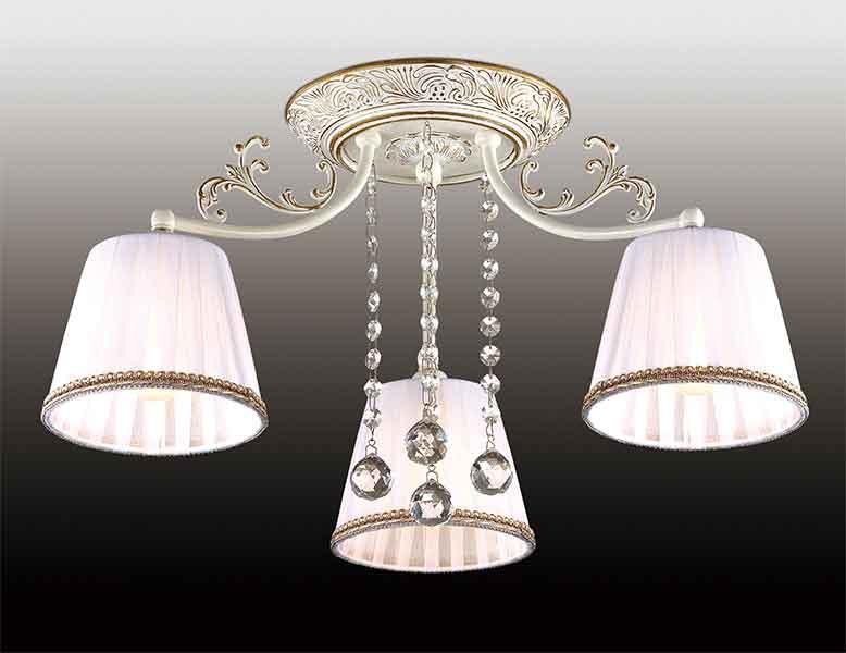 Потолочная люстра накладная 2697/3C  Odeon Lightнакладные<br>2697/3C ODL15 115 бел.с позолот/абажур органза/хрусталь Люстра потолочная E14 3*60W 220V VEADO. Бренд - Odeon Light. материал плафона - ткань. цвет плафона - белый. тип цоколя - E14. тип лампы - галогеновая или LED. ширина/диаметр - 540. мощность - 60. количество ламп - 3.<br><br>популярные производители: Odeon Light<br>материал плафона: ткань<br>цвет плафона: белый<br>тип цоколя: E14<br>тип лампы: галогеновая или LED<br>ширина/диаметр: 540<br>максимальная мощность лампочки: 60<br>количество лампочек: 3