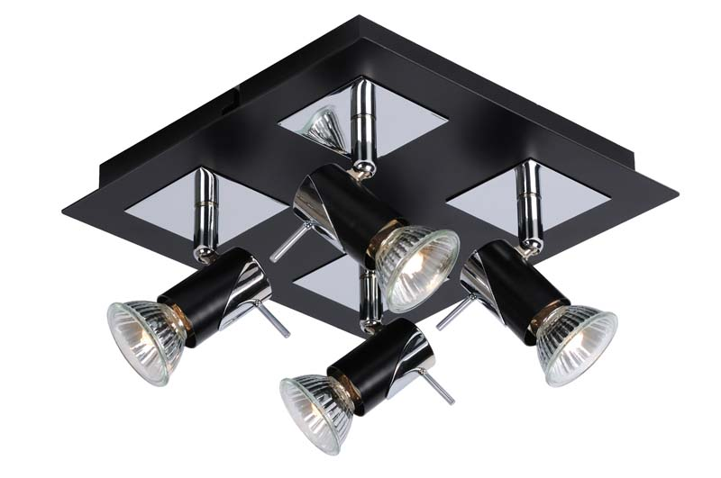 спот 12910/14/30 LUCIDEСпоты<br>BRACKX Ceiling light 4xGU10/50W Chrome/ Black. Бренд - LUCIDE. тип цоколя - GU10. тип лампы - галогеновая или LED. ширина/диаметр - 230. мощность - 50. количество ламп - 4.<br><br>популярные производители: LUCIDE<br>тип цоколя: GU10<br>тип лампы: галогеновая или LED<br>ширина/диаметр: 230<br>максимальная мощность лампочки: 50<br>количество лампочек: 4