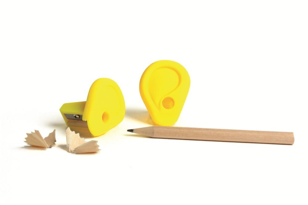 Точилка ear желтая Fine DesignРазный настольный декор<br>. Бренд - Fine Design. материал - пластик ABS.<br><br>популярные производители: Fine Design<br>материал: пластик ABS
