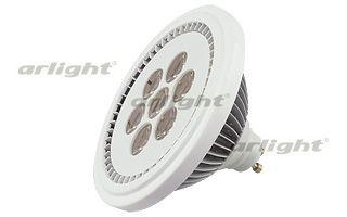Светодиодная лампа MDSV-AR111-GU10-15W 35deg Day White 220V Arlightсветодиодные<br>Светодиодная лампа AR111, светодиоды 7X2W Epistar, цвет БЕЛЫЙ ДНЕВНОЙ 4000К, угол 35°. Питание 220V AC, мощность 15Вт. Световой поток 1000-1050lm. Размер 110х76мм. Бренд - Arlight. тип цоколя - GU10. тип лампы - LED. ширина/диаметр - 110. мощность - 15.<br><br>популярные производители: Arlight<br>тип цоколя: GU10<br>тип лампы: LED<br>ширина/диаметр: 110<br>максимальная мощность лампочки: 15