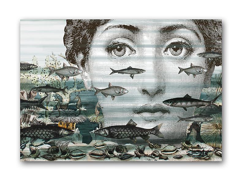 Постер Fornasetti and fish A4 DG-HOME от Дивайн Лайт