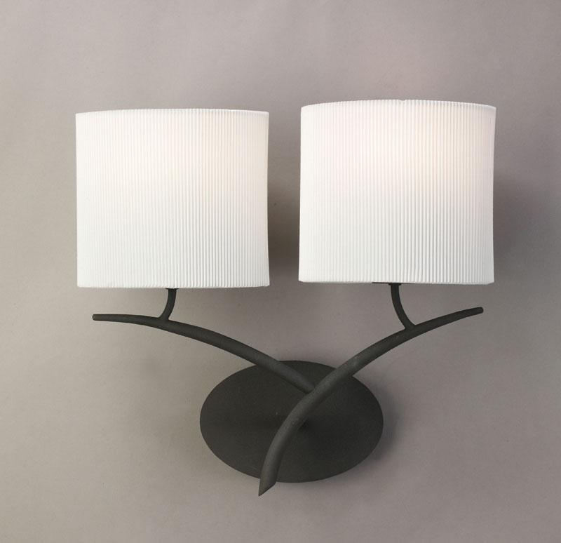 Бра 1155 MantraНастенные и бра<br>WALL LAMP 2L. Бренд - Mantra. материал плафона - ткань. цвет плафона - белый. тип цоколя - E27. тип лампы - накаливания или LED. ширина/диаметр - 140. мощность - 20. количество ламп - 2.<br><br>популярные производители: Mantra<br>материал плафона: ткань<br>цвет плафона: белый<br>тип цоколя: E27<br>тип лампы: накаливания или LED<br>ширина/диаметр: 140<br>максимальная мощность лампочки: 20<br>количество лампочек: 2
