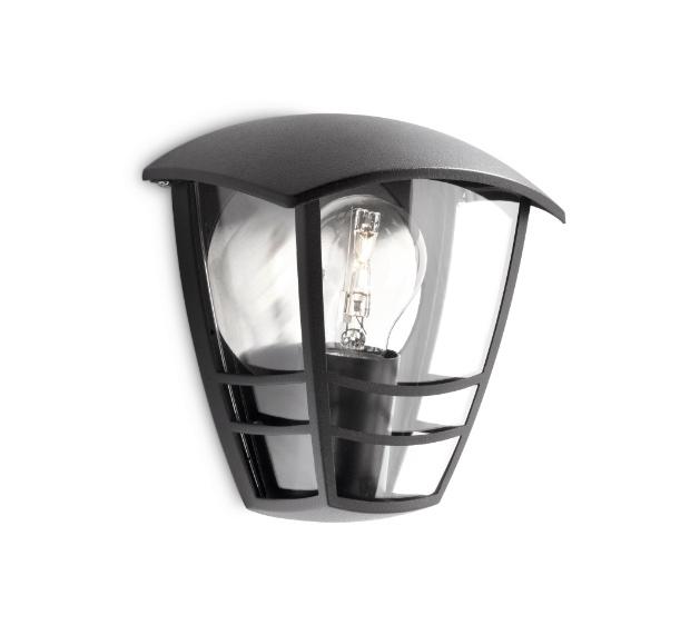 Светильник настенный 15387/30/16 PhilipsНастенные<br>уличный настенный. Бренд - Philips. материал плафона - стекло. цвет плафона - прозрачный. тип цоколя - E27. тип лампы - накаливания или LED. ширина/диаметр - 130. мощность - 60. количество ламп - 1.<br><br>популярные производители: Philips<br>материал плафона: стекло<br>цвет плафона: прозрачный<br>тип цоколя: E27<br>тип лампы: накаливания или LED<br>ширина/диаметр: 130<br>максимальная мощность лампочки: 60<br>количество лампочек: 1