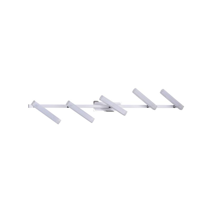 Бра 406/5PF-Whitechrome IDLampНастенные и бра<br>Настенно-потолочный. Бренд - IDLamp. материал плафона - пластик. цвет плафона - белый. тип лампы - LED. ширина/диаметр - 118. мощность - 5. количество ламп - 5.<br><br>популярные производители: IDLamp<br>материал плафона: пластик<br>цвет плафона: белый<br>тип лампы: LED<br>ширина/диаметр: 118<br>максимальная мощность лампочки: 5<br>количество лампочек: 5