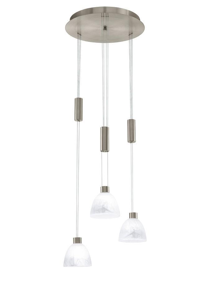 Потолочная люстра подвесная 91607 EGLOподвесные<br>91607 Подвесной светильник Oristano 91607. Бренд - EGLO. материал плафона - стекло. цвет плафона - белый. тип цоколя - GY6.35. тип лампы - галогеновая или LED. ширина/диаметр - 395. мощность - 50. количество ламп - 3.<br><br>популярные производители: EGLO<br>материал плафона: стекло<br>цвет плафона: белый<br>тип цоколя: GY6.35<br>тип лампы: галогеновая или LED<br>ширина/диаметр: 395<br>максимальная мощность лампочки: 50<br>количество лампочек: 3