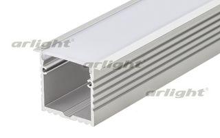 Встраиваемый алюминиевый профиль длина 2м в комплекте с матовым экраном. Материал экрана PC, UV-защи Arlight
