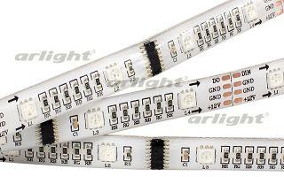 Светодиодная лента 016162 Arlightленты<br>Гибкая герметичная лента, покрытие EPOXY IP65. Длина 5м, 160шт LED RGB 5060, 32 pixel/m (1 пиксель - 1 cв/д). Питание 12V, ном. мощн. 10 Вт/м, макс. мощн-ть 12 Вт/м (статический белый цвет). Ширина 12 мм. Светодиоды ВЫСОКОЙ яркости, герм. коаксиальные кон.... Бренд - Arlight. тип лампы - LED. ширина/диаметр - 12. мощность - 60. количество ламп - 160.<br><br>популярные производители: Arlight<br>тип лампы: LED<br>ширина/диаметр: 12<br>максимальная мощность лампочки: 60<br>количество лампочек: 160