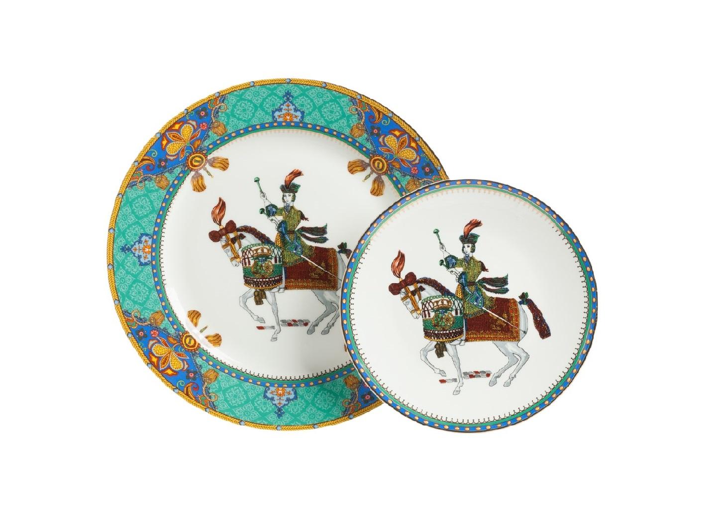 Комплект тарелок Jinete DG-HOMEСервизы и наборы посуды<br>. Бренд - DG-HOME. ширина/диаметр - 255. материал - Костяной фарфор. цвет - Белый, мятный.<br><br>популярные производители: DG-HOME<br>ширина/диаметр: 255<br>материал: Костяной фарфор<br>цвет: Белый, мятный