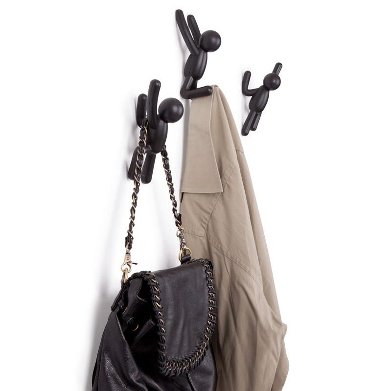 Вешалки-крючки buddy 3 шт. черные Fine DesignВешалки и крючки<br>. Бренд - Fine Design. материал - пластик ABS.<br><br>популярные производители: Fine Design<br>материал: пластик ABS