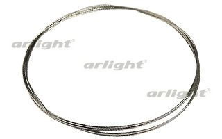 алюминиевый профиль 013517 Arlightкомплектующие<br>Стальной тросик 2000мм для подвеса PDS-R, диаметр 1мм, для подвешивания светильников на основе профиля при помощи кондукторных заглушек.. Бренд - Arlight.<br><br>популярные производители: Arlight