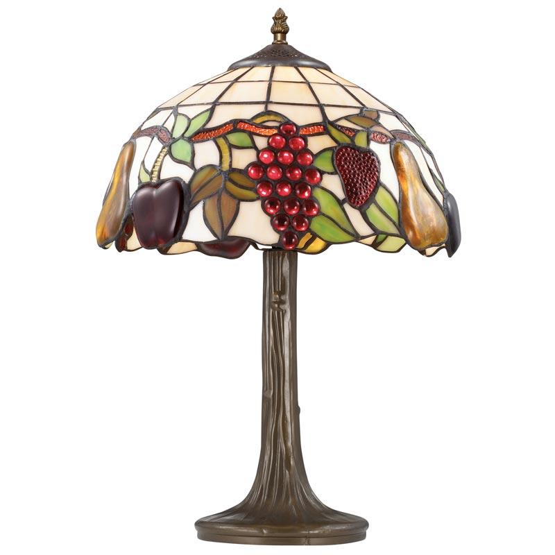 Настольная лампа 2525/1T Odeon LightНастольные лампы<br>2525/1T ODL13 639 фрукты/тиффани Н/лампа  E27 60W 220V GARDEN. Бренд - Odeon Light. материал плафона - стекло. цвет плафона - разноцветный. тип цоколя - E27. тип лампы - галогеновая или LED. ширина/диаметр - 310. мощность - 60. количество ламп - 1.<br><br>популярные производители: Odeon Light<br>материал плафона: стекло<br>цвет плафона: разноцветный<br>тип цоколя: E27<br>тип лампы: галогеновая или LED<br>ширина/диаметр: 310<br>максимальная мощность лампочки: 60<br>количество лампочек: 1