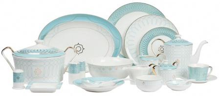 Столовый сервиз Turquoise Veil DG-HOMEСервизы и наборы посуды<br>. Бренд - DG-HOME. ширина/диаметр - 620. материал - Костяной фарфор. цвет - Белый, Голубой.<br><br>популярные производители: DG-HOME<br>ширина/диаметр: 620<br>материал: Костяной фарфор<br>цвет: Белый, Голубой