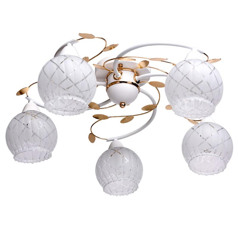 Потолочная люстра накладная 358019005 DeMarktнакладные<br>358019005. Бренд - DeMarkt. материал плафона - стекло. цвет плафона - белый. тип цоколя - E14. тип лампы - накаливания или LED. ширина/диаметр - 600. мощность - 60. количество ламп - 5.<br><br>популярные производители: DeMarkt<br>материал плафона: стекло<br>цвет плафона: белый<br>тип цоколя: E14<br>тип лампы: накаливания или LED<br>ширина/диаметр: 600<br>максимальная мощность лампочки: 60<br>количество лампочек: 5