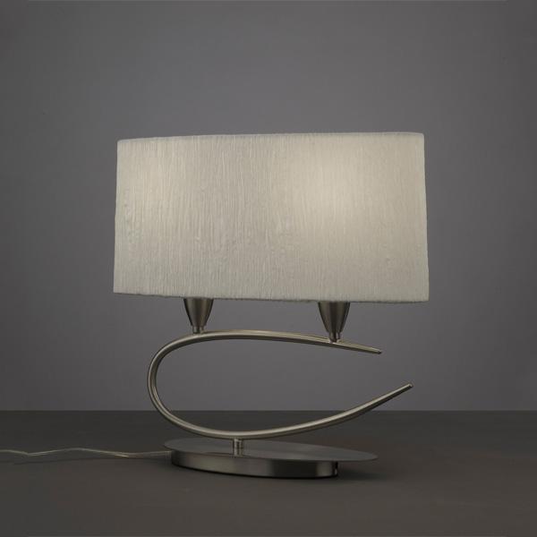 Настольная лампа 3703 MantraНастольные лампы<br>TABLE LAMP 2 LIGHTS. Бренд - Mantra. материал плафона - ткань. цвет плафона - белый. тип цоколя - E27. тип лампы - КЛЛ. ширина/диаметр - 180. мощность - 13. количество ламп - 2.<br><br>популярные производители: Mantra<br>материал плафона: ткань<br>цвет плафона: белый<br>тип цоколя: E27<br>тип лампы: КЛЛ<br>ширина/диаметр: 180<br>максимальная мощность лампочки: 13<br>количество лампочек: 2
