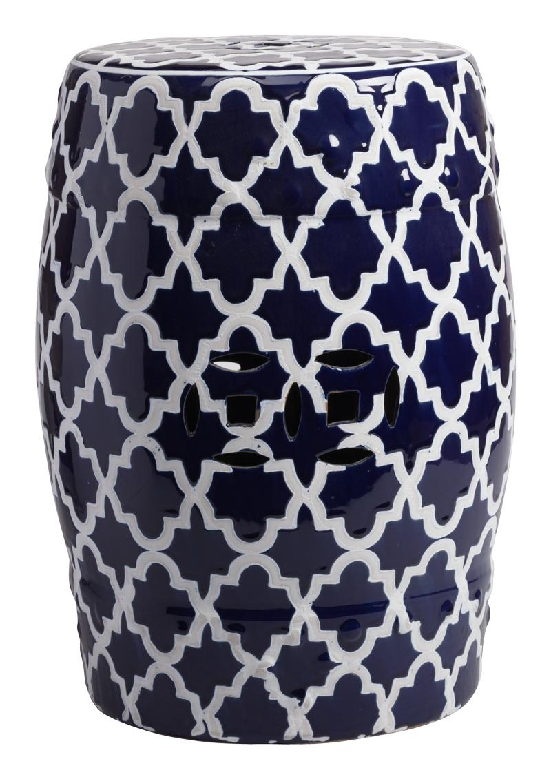Керамический столик-табурет Istanbul Stool Dark Blue DG-HOME