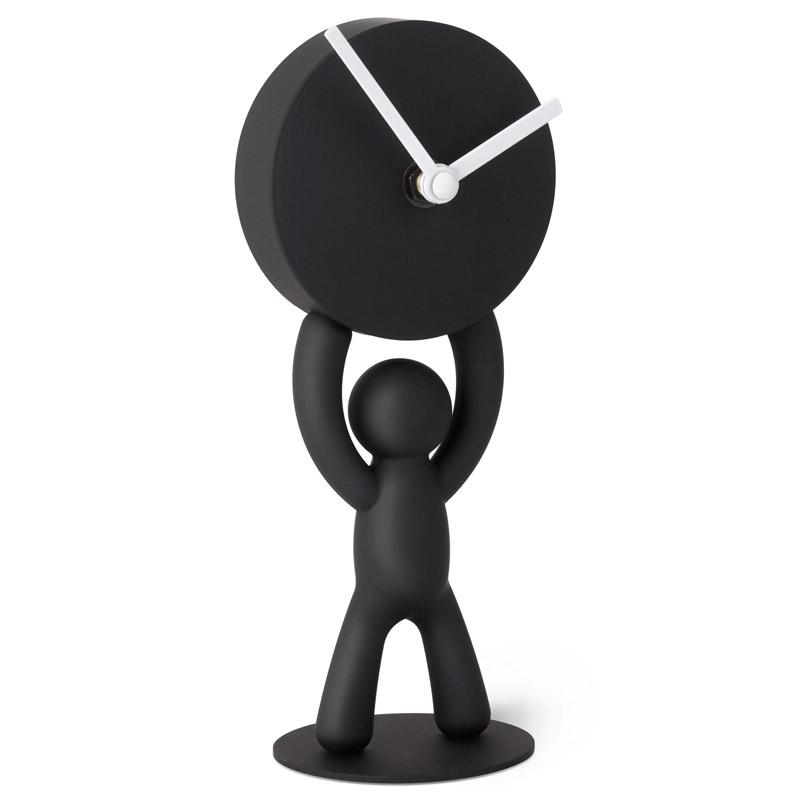 Часы buddy настольные черные UmbraНастольные часы<br>. Бренд - Umbra. материал - Пластик. цвет - черный.<br><br>популярные производители: Umbra<br>материал: Пластик<br>цвет: черный
