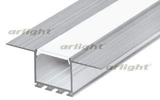 Алюминиевый профиль, встраиваемый в гипсокартон, скрытой установки, фланцы закрашиваются. Неанодиров Arlight
