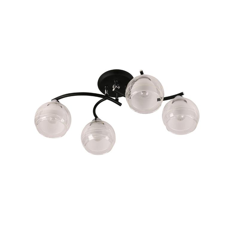 Потолочная люстра накладная 845/4PF-Blackchrome IDLampнакладные<br>Потолочный. Бренд - IDLamp. материал плафона - стекло. цвет плафона - белый. тип цоколя - E27. тип лампы - накаливания или LED. ширина/диаметр - 400. мощность - 60. количество ламп - 4.<br><br>популярные производители: IDLamp<br>материал плафона: стекло<br>цвет плафона: белый<br>тип цоколя: E27<br>тип лампы: накаливания или LED<br>ширина/диаметр: 400<br>максимальная мощность лампочки: 60<br>количество лампочек: 4