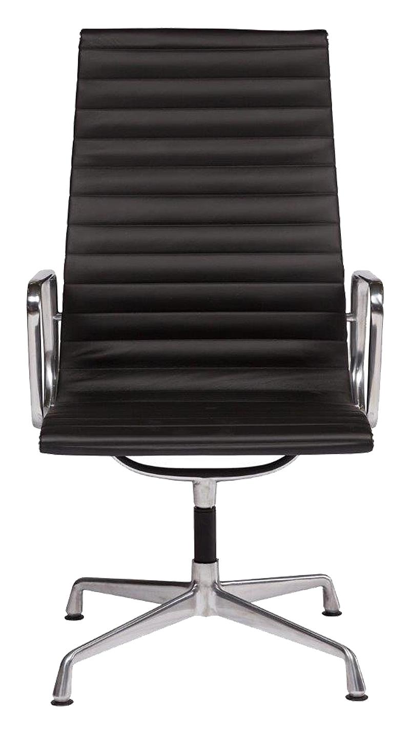 Кресло Eames Office Armchair Black Premium Leather DG-HOMEКресла<br>. Бренд - DG-HOME. ширина/диаметр - 8. материал - Кожа, Металл.<br><br>популярные производители: DG-HOME<br>ширина/диаметр: 8<br>материал: Кожа, Металл