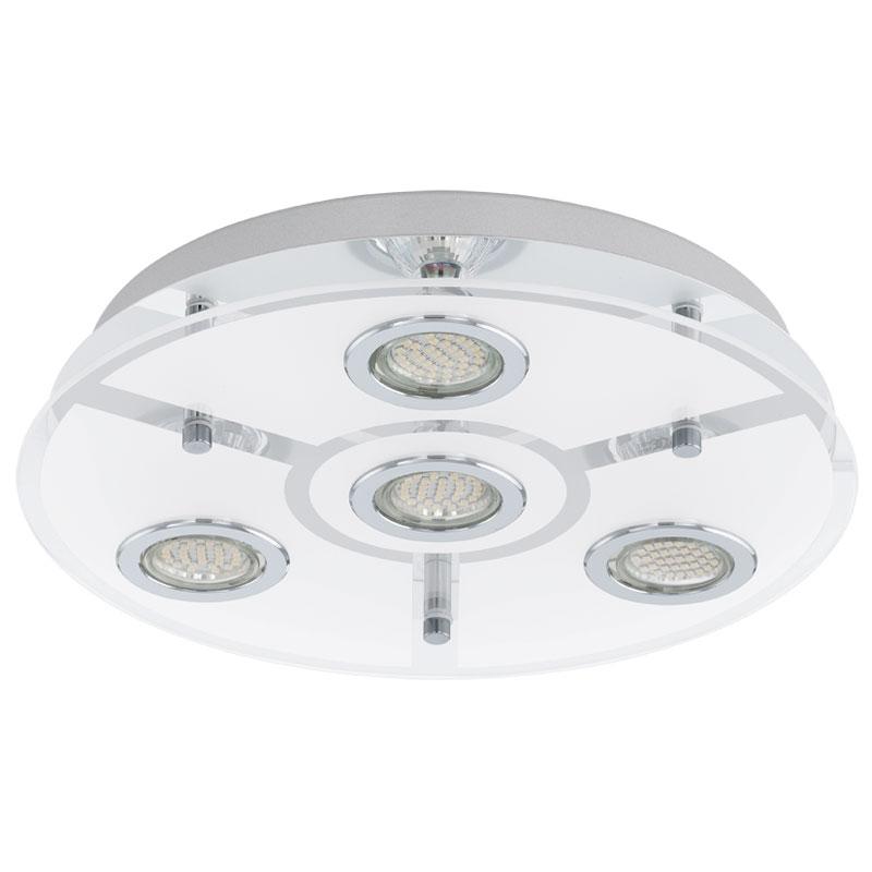 Накладной потолочный светильник 93107 EGLOнакладные<br>Светодиодная люстра CABO, 4X3W (LED), IP20 . Бренд - EGLO. материал плафона - стекло. цвет плафона - белый. тип цоколя - GU10. тип лампы - галогеновая или LED. ширина/диаметр - 350. мощность - 3. количество ламп - 4.<br><br>популярные производители: EGLO<br>материал плафона: стекло<br>цвет плафона: белый<br>тип цоколя: GU10<br>тип лампы: галогеновая или LED<br>ширина/диаметр: 350<br>максимальная мощность лампочки: 3<br>количество лампочек: 4