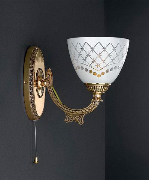 Бра A 7152/1 Reccagni AngeloНастенные и бра<br>A 7152/1. Бренд - Reccagni Angelo. материал плафона - стекло. цвет плафона - белый. тип цоколя - E27. тип лампы - накаливания или LED. мощность - 60. количество ламп - 1.<br><br>популярные производители: Reccagni Angelo<br>материал плафона: стекло<br>цвет плафона: белый<br>тип цоколя: E27<br>тип лампы: накаливания или LED<br>максимальная мощность лампочки: 60<br>количество лампочек: 1