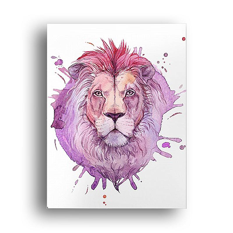 Постер Акварельный лев DG-HOME от Дивайн Лайт