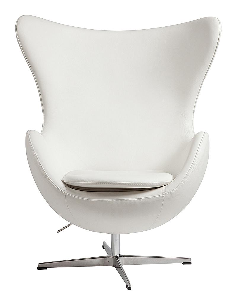 Кресло Egg Chair Белая Кожа Класса Премиум DG-HOMEКресла<br>. Бренд - DG-HOME. ширина/диаметр - 4. материал - Кожа, Поролон, Металл.<br><br>популярные производители: DG-HOME<br>ширина/диаметр: 4<br>материал: Кожа, Поролон, Металл