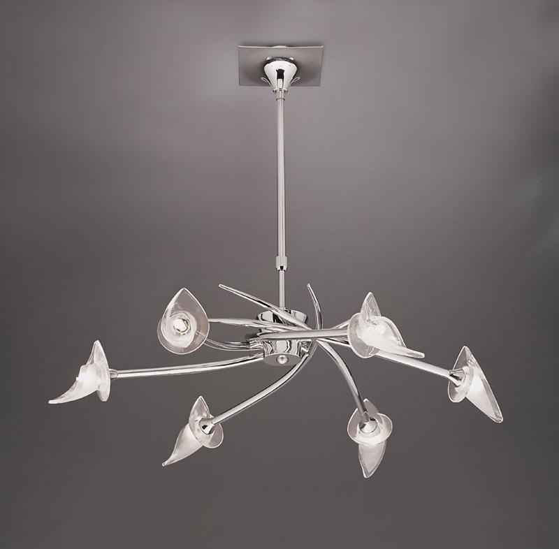 Потолочная люстра на штанге 0301 Mantraна штанге<br>PENDANT 6L  (Adjustable). Бренд - Mantra. материал плафона - стекло. цвет плафона - прозрачный. тип цоколя - G9. тип лампы - галогеновая или LED. ширина/диаметр - 730. мощность - 40. количество ламп - 6.<br><br>популярные производители: Mantra<br>материал плафона: стекло<br>цвет плафона: прозрачный<br>тип цоколя: G9<br>тип лампы: галогеновая или LED<br>ширина/диаметр: 730<br>максимальная мощность лампочки: 40<br>количество лампочек: 6