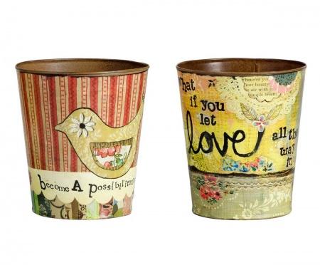 Набор декоративных горшков для цветов Enfance DG-HOME