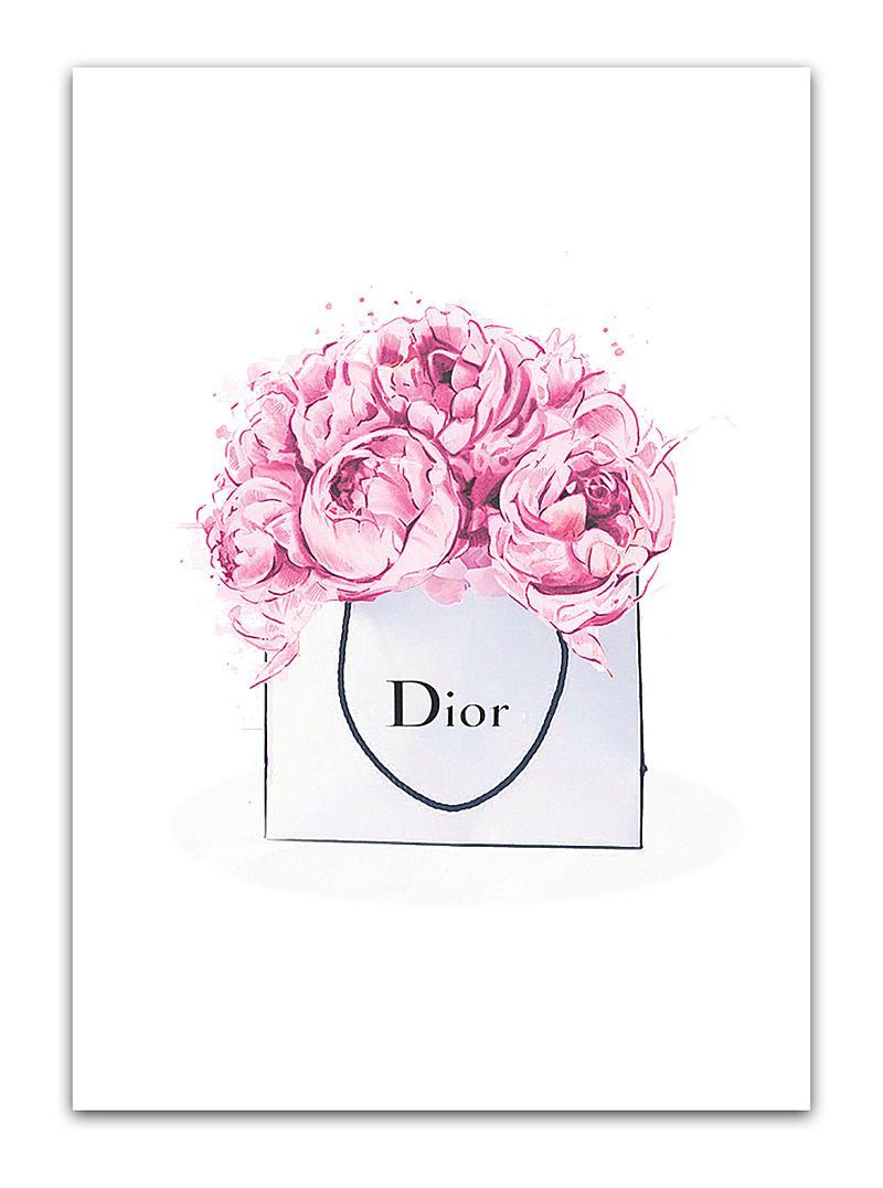 Постер Dior peonies А3 DG-HOME от Дивайн Лайт