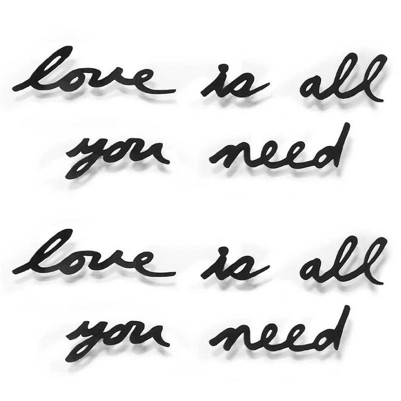 Надпись декоративная love is all you need настенная черная Fine DesignРазный настенный декор<br>. Бренд - Fine Design. материал - Сталь.<br><br>популярные производители: Fine Design<br>материал: Сталь