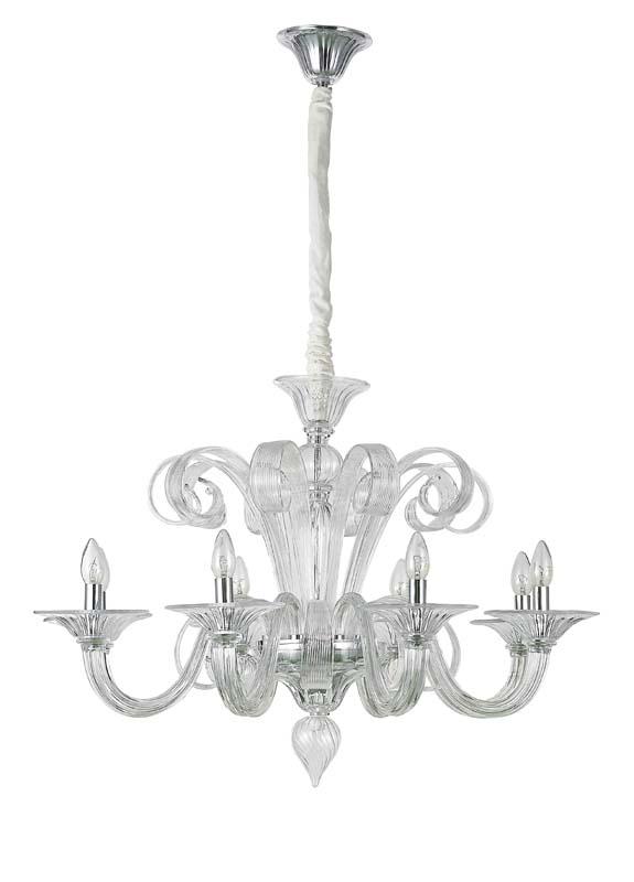 Потолочная люстра подвесная S110218/8clear Donoluxподвесные<br>Donolux Classic люстра, стекло прозрачное, диам 88 см, выс 60 см, 8хЕ14 60W, цвет арматуры хром. Бренд - Donolux. тип цоколя - E14. тип лампы - накаливания или LED. ширина/диаметр - 880. мощность - 60. количество ламп - 8.<br><br>популярные производители: Donolux<br>тип цоколя: E14<br>тип лампы: накаливания или LED<br>ширина/диаметр: 880<br>максимальная мощность лампочки: 60<br>количество лампочек: 8
