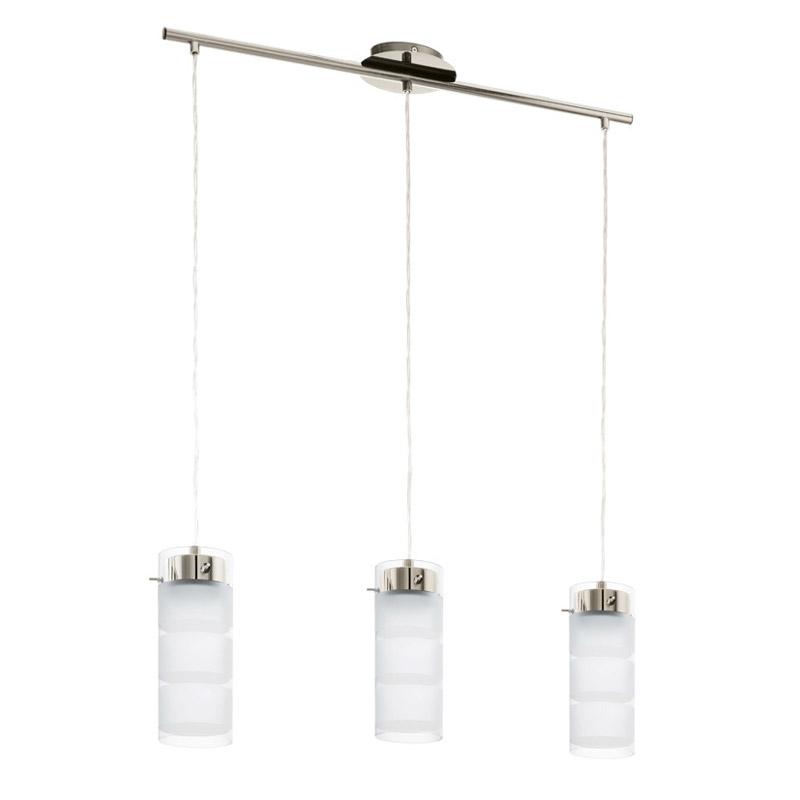 Подвесной  потолочный светильник 93542 EGLOподвесные<br>Светодиодный подвес OLVERO, 3х7W (GX53), никель/белое стекло. Бренд - EGLO. материал плафона - стекло. цвет плафона - белый. тип цоколя - GX53. тип лампы - галогеновая или LED. ширина/диаметр - 720. мощность - 7. количество ламп - 3.<br><br>популярные производители: EGLO<br>материал плафона: стекло<br>цвет плафона: белый<br>тип цоколя: GX53<br>тип лампы: галогеновая или LED<br>ширина/диаметр: 720<br>максимальная мощность лампочки: 7<br>количество лампочек: 3